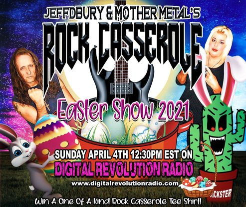 Tomorrow, April 4th is Easter Sunday and The Rock Casserole will definitely be rockin' the airwaves of Digital Revolutio…