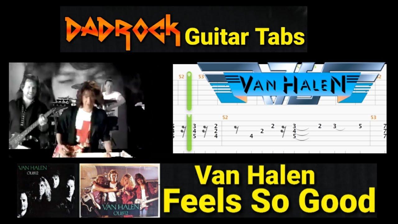 Feels So Good – Van Halen – Lead Guitar TABS Lesson