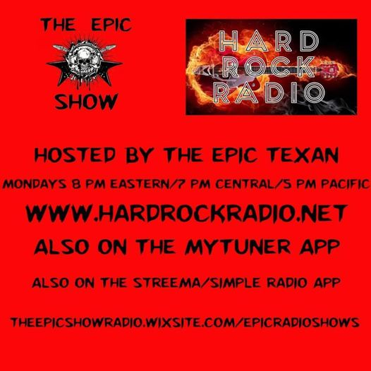 Starting tomorrow, The Epic Show comes to Hard Rock Radio! Tune in at 5pm PST/8pm EST on www.Hardrockradio.net! Also tun…